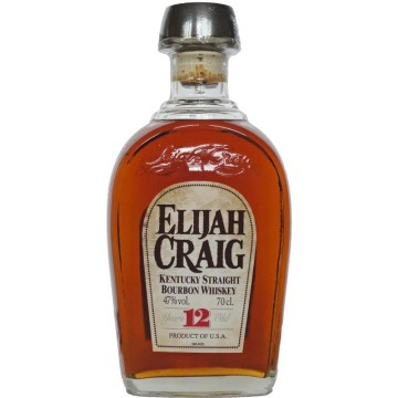 Elijah Craig 12 Years Old Bourbon Kentucky Whiskey