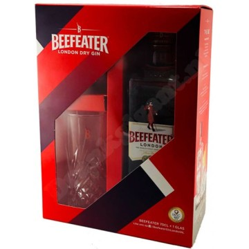 Beefeater Gin 0.70 ltr + Glas EOY